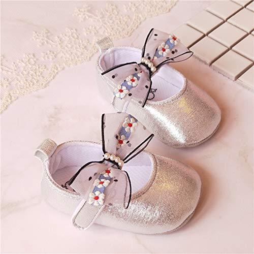 Youpin Zapatos de bebé de 0 a 1 año de edad, zapatos de bebé de 0 a 6 a 12 meses de tela suave de princesa zapatos de primavera y otoño (edad del bebé: 7 a 12 meses, color: 13)
