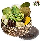 GJNVBDZSF Cuenco de Coco Cuenco de Ensalada Cuenco de Postre, Cuenco de Sopa 100% Natural Biodegradable Comida Vegetariana Protección del Medio Ambiente Desayuno, Cena Regalo Dulce único