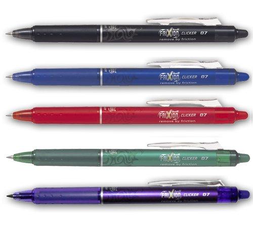 Pilot Retractable 0.7mm Heat & Friction Erasable Pens Best Sellers Set