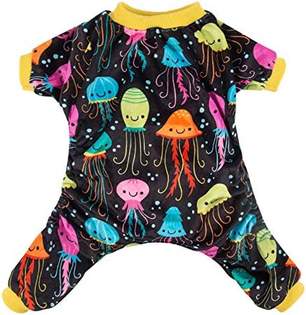 CuteBone Dog Pajamas Jellyfish Dog Apparel Dog Jumpsuit Pet Clothes Pajamas P80L product image