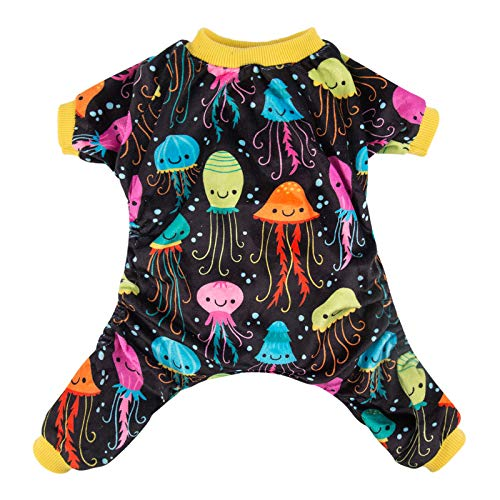 CuteBone Dog Pajamas Jellyfish Dog Apparel Dog Jumpsuit Pet Clothes Pajamas P80L