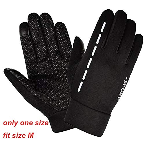 JNML Sports Full Finger Ridding Gloves Thermal Warm Cycling Bicycle Bike Ski Outdoor Camping Hiking Gloves,Only One Size,L