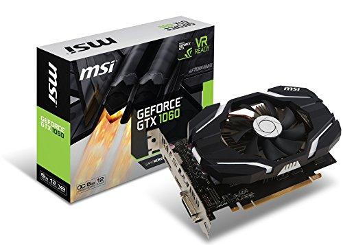 MSI GAMING GeForce GTX 1060 6GB GDRR5 192-bit HDCP Support DirectX 12 Single Fan VR Ready OC Graphics Card (GTX 1060 6G OCV1) (Renewed)