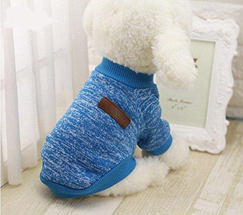 Mascotas Perro Ropa Abrigo Sudadera Invierno Mascota Perro Ropa Tejer Animales requisitos de Dog Pet Clothes