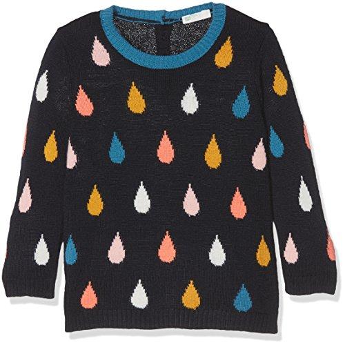 United Colors of Benetton Sweater L/s, suéter Bebé-Niños, Azul (BLUE), 56