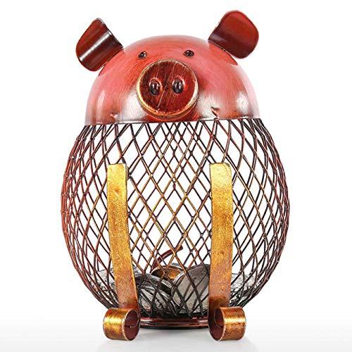 QXTT Piggy Shaped Animals Gifts Metal Handwork Crafting Coin Bank Box Money Box Piggy Bank