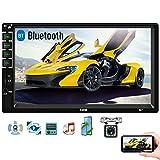 Camechoカーオーディオ 2dinカーステレオ7インチHD 1080Pカーラジオ サポートBluetooth/対応 カーナビ/WIFI/iOS/Android電話の同期/FM/USB/SD/Aux+バックカメラ
