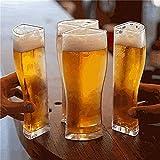 RTYY Taza de Vasos de Cerveza de 4 Partes Copa de Cerveza de Vino Transparente Gruesa de Gran Capacidad Separable para Bar Club