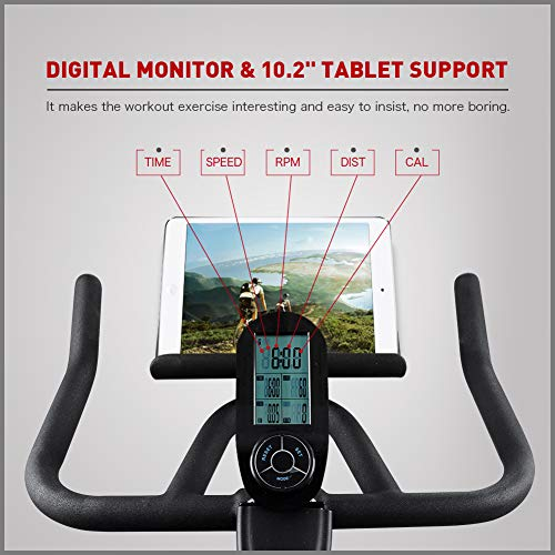 Indoor Cycling Bike Stationary - Professional Exercise Bike Stationary Bike for Home Cardio Gym Workout