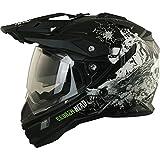 Motorradbekleidung Mädl Enduro Helm mit Sonnenblende Broken Head Fullgas Viking matt schwarz -...