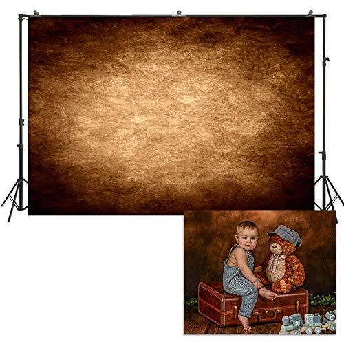 220x150cm Studio achtergrond Retro effen kleur achtergrond Baby Kids pasgeboren fotografie achtergrond portret Photo Booth bruin landelijke Banner