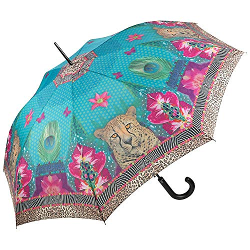 Von LILIENFELD Paraguas Automática Mujer Motivo Arte Eva Maria Nitsche: Longing Leopard