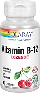 Solaray Vitamin B-12 1000mcg   Cereza   90 Lozenges