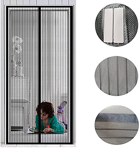 Elehui Zanzariera Magnetica per Porte 100 x 210CM Zanzariere Magnetiche Spegnimento Automatico per Cucina Soggiorno Camera da Letto Resistente Traspirante Tenda Anti Mosche