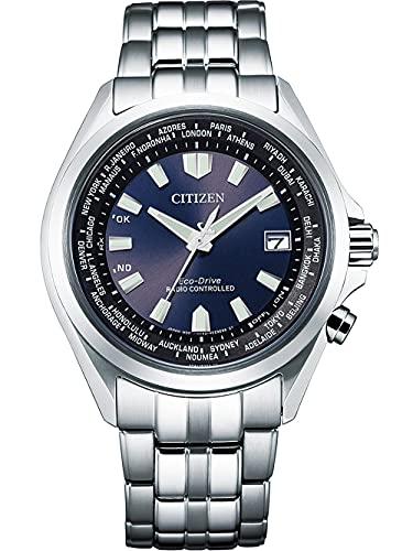 Citizen Eco-Drive Funk-Herrenuhr Stahl/Blau CB0220-85L