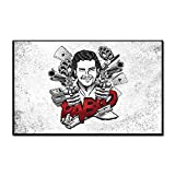 KWzEQ Cartel de Personaje póster Retro Legendario y Arte de Lienzo Mural Impreso para decoración del hogar,Pintura sin Marco,30X45cm
