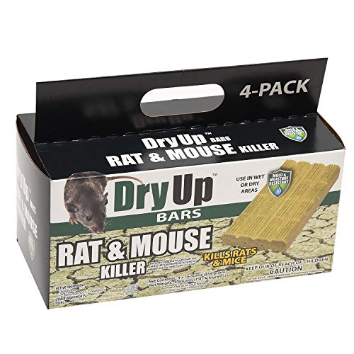 HARRIS Dry-Up Mouse and Rat Killer, 16oz Bait Bars (4-Pack)