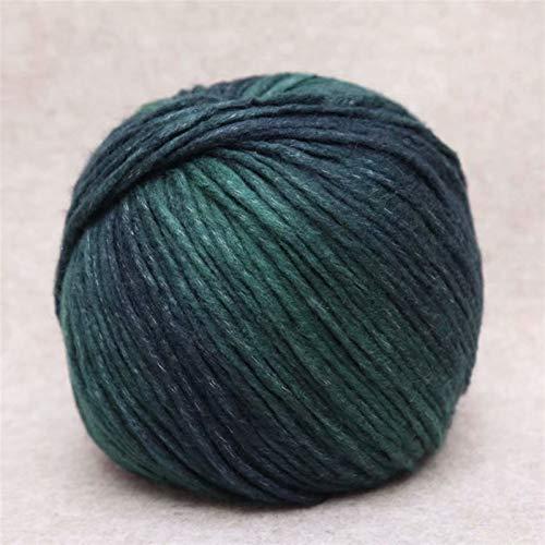 Kern gesponnen garen Koreaanse barsteek hand breien medium dikke zijde sjaal hoed draad gradiënt fancy garen (Color : 17)
