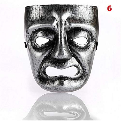 RCFRGV Halloween Maske Halloween Ball Masken Party Maske Antike griechische Dionysos Maske Maske weinende Gesichtsmaske Smiley Maske