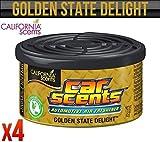 California Car Scents, Lufterfrischer, Golden State, für zu Hause, Transporter, Büro, Taxi, 4 Stück
