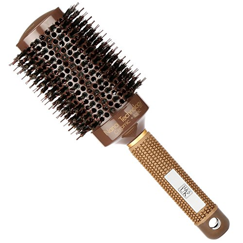 H&S Round Hair Brush Blow Dry Drying Boar Bristle 53mm Large Round Barrel...