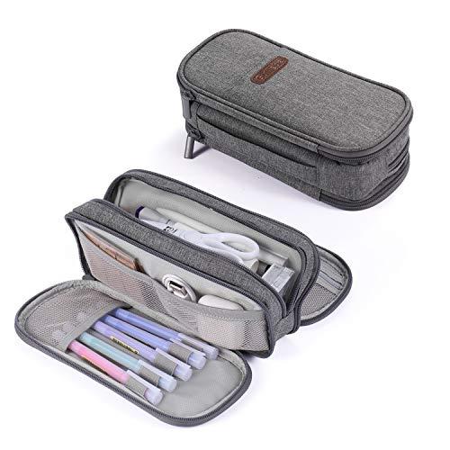 Federmäppchen 3fach Schulmäppchen Große Aufbewahrung Farbe Bleistift Tasche Tragbar für Schule Mädchen Jungen Büro Damen Geschenk