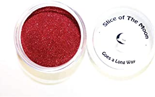 Slice Of The Moon: Red Solvent Resistant Glitter Powder 20g. Cosmetic Grade For Lipstick Lip gloss Bath Bombs Epoxy Resin Face Blush Powder Eye pencil Dye Pigments Candle Making