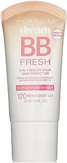 Maybelline Dream Fresh BB 8-in-1 Beauty Balm Skin Perfector SPF 30, Medium 1 oz (Pack of 2)