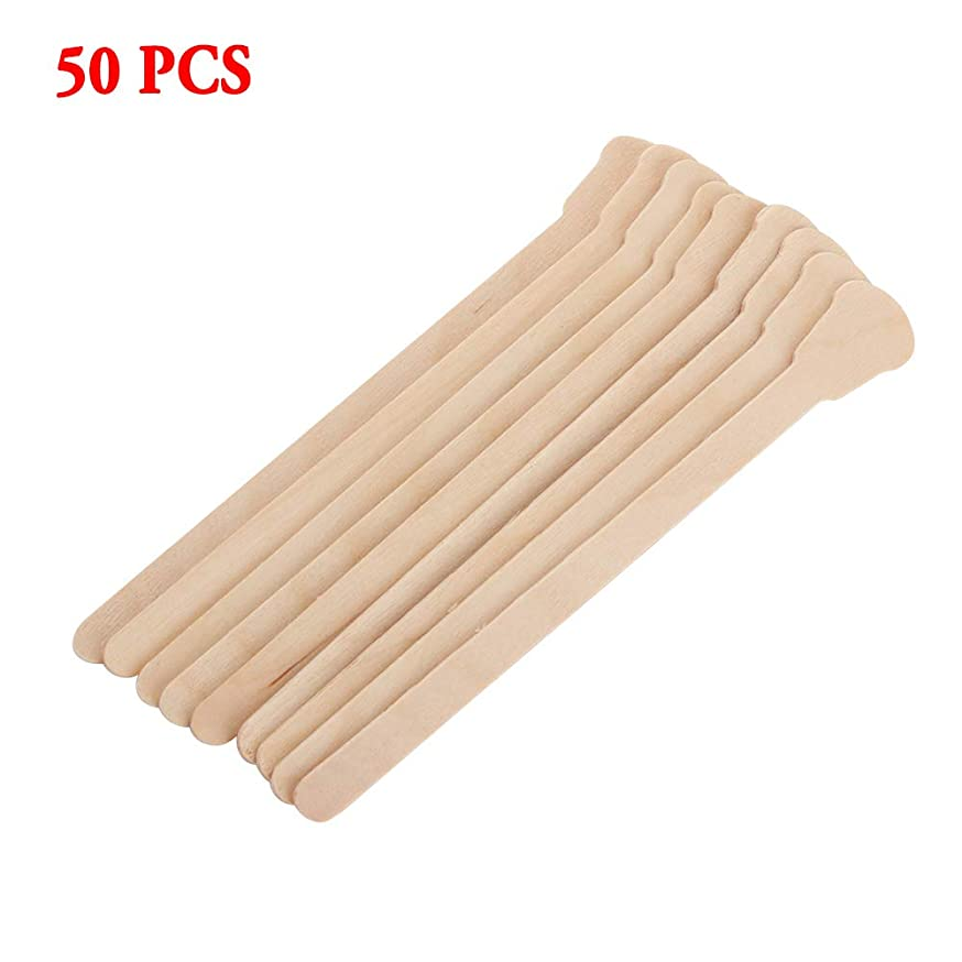 50pcs Disposable Wooden Waxing Spatulas Tongue Depressor Wax Applicator Sticks Facial Cream Spatulas Small Wood Craft Sticks for Waxing Body Hair Care