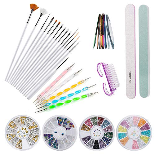 Czemo Kit de Accesorios Decoración Uñas Nail Art, 15pcs