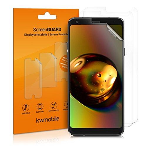 kwmobile 3X Folie kompatibel mit LG Q7 / Q7+ / Q7a (Alpha) - klare Bildschirmschutzfolie Bildschirmschutz kristallklar Bildschirmfolie Schutzfolie