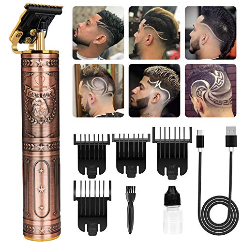 Zero Blade Hair Trimmer Bald Eagle Design Cordless Pro Li T Blade Trimmer Outlining Hair Trimmers Professional Hair Clippers for Man Zero Gapped Hair Trimmer