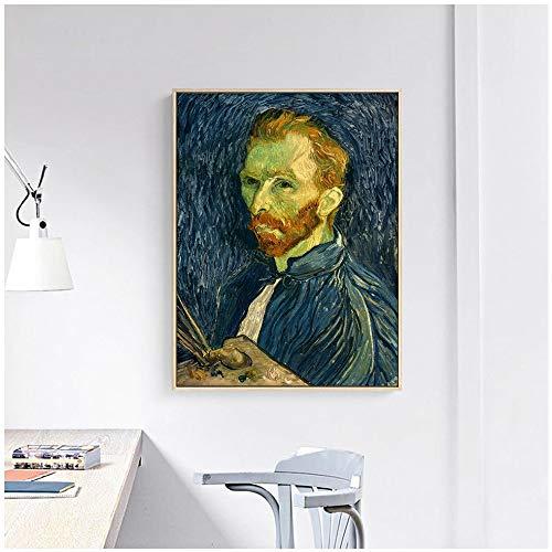 wopiaol Sin Marco Vincent Self-Portrait Canvas Painting Poster and Prints Decoración de la Pared Impresionista Arte Moderno de la Pared para la Sala de Estar