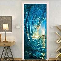 家のデザインのための寝室の装飾と部屋の接着剤のステッカーのためのドアの壁紙のライブラリステッカー-MT048_95 x 215 cm