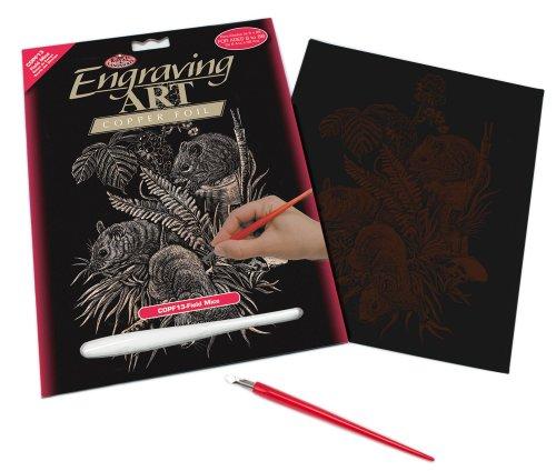 Royal & Langnickel COPF13 - Engraving Art/Kratzbilder in Kupfer Din A4 - Feldmäuse