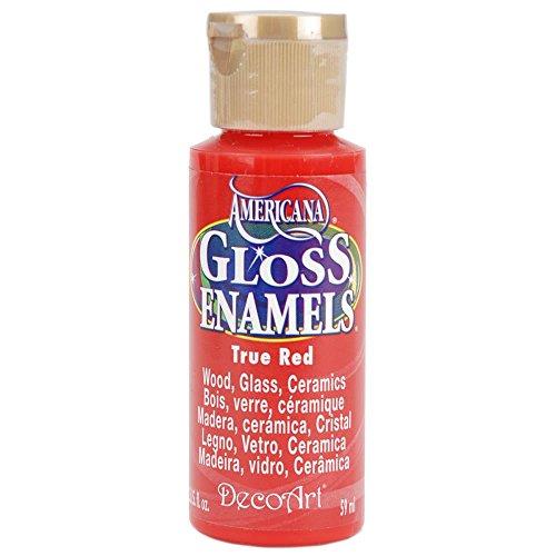 DecoArt Americana Gloss Enamel Paint, 2-Ounce, True Red (DAG129-30)