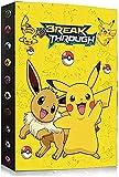 Álbumes Compatible con Cartas Pokemon, Carpeta Compatible con Cartas de Pokémon, Álbum Titular Compatible con Cartas Pokémon, 30 páginas con capacidad para 240 cartas (KA-PIKACHU)