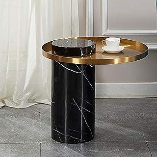 WZHZJ Modern Living Room Office Marble Side Table Metal Coffee Table Side Table Bedside Table, Bedroom (Color : Model Two)