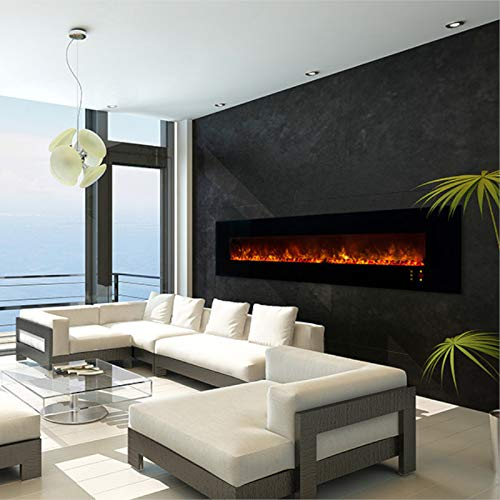 Modern Flames Ambiance Clx2 100-inch Electric Fireplace with Black Glass Front - Al100clx2-g