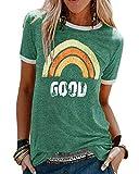UMIPUBO Camiseta de Mujer Bring On The Sunshine Camiseta Estampada de Manga Corta Suelta de Verano Camisas Casuales...