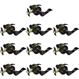 Gobrico 10 Pack Oil Rubbed Bronze Privacy Interior Door Locks Drop/Wave Levers Knobs Bed/B...