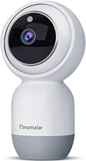 Panamalar Baby Monitor, 1080P WiFi Indoor Security Camera with 2-Way Audio, Night Vision, Motion Detection for Baby/Elder/Pet, Compatible with Alexa, Compatible with iOS/Android Phone