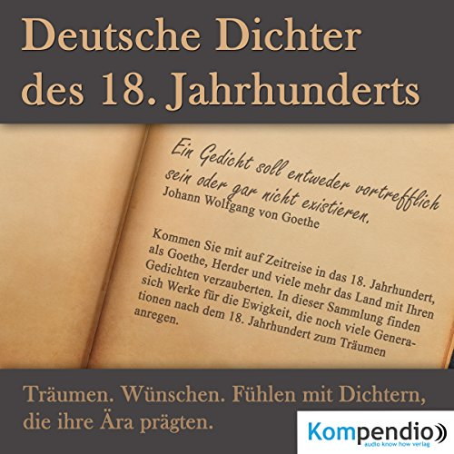 Deutsche Dichter des 18.Jahrhunderts audiobook cover art