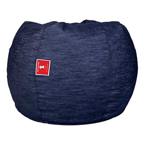 ComfyBean Bags Designer Denim Fabric XXXL Bean Bag Without Fillers Cover (Electric Blue)