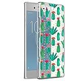 Funda Sony Xperia XZ1, Eouine Cárcasa Ultrafina Silicona 3D Transparente con Dibujos [Antigolpes] Gel TPU Protector Bumper Case Cover Fundas para Movil Sony Xperia XZ1 (Cactus)