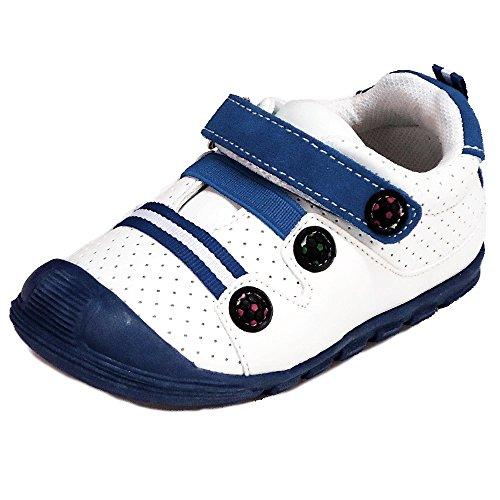 Kinder Schuhe Baby Sportschuhe (41C) Halbschuhe Kinderschuhe Jungen,Mädchen Schuhe Blau, Größe 21