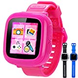 GBD Game Smart Watch for Kids Girls Boys Student Toddlers Wrist Digital Watch with Pedometer 1.5' Touch 10 Games Alarm Clock Electronic Learning Game Toys for Kids Holiday Birthday Gifts (Pink)