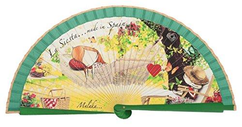 Abanico de madera Malaka Siesta Flamenca