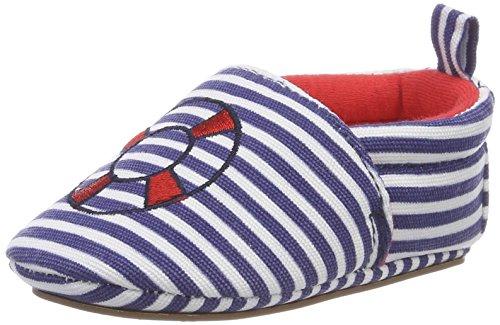 Sterntaler Chaussure de bébé Garçon à semelle antidérapante, Âge: 6-9 Mois, Taille: 18, Couleur: Bleu (Indigo), Art.-Nr.: 2301856