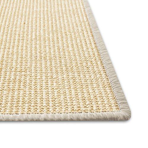 Floori® Sisal Kratzteppich | Naturfaser: nachhaltig und umweltfreundlich | Kratzmatte für die Krallenpflege Ihrer Katze | Ivory, 50x50cm